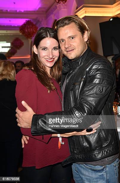Sophie Wepper and her husband David Meister during the 'Willkommen bei den Hartmanns' after party at Palais Lenbach on October 25 2016 in Munich...