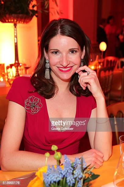 Sophie Wepper wearing jewelry by Thomas Jirgens Juwelenschmiede during the Spring Ball Frankfurt 2016 on March 5 2016 at Palmengarten in Frankfurt am...