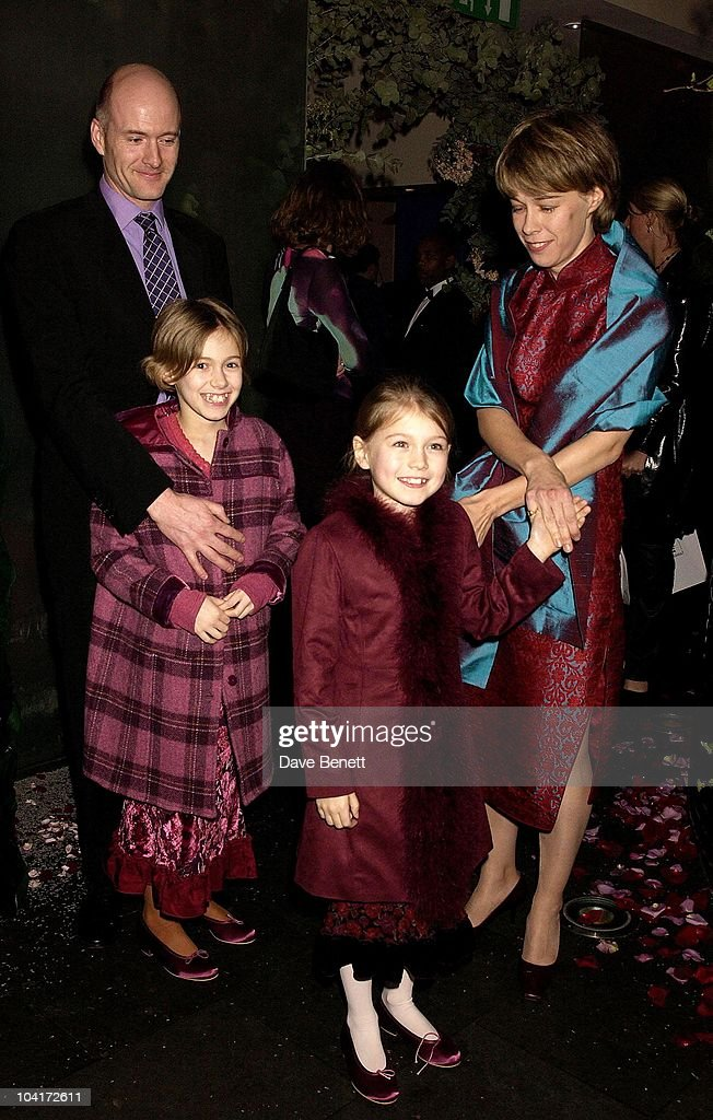 Sophie Wyburd (front) With Her Sister Ellie And Mum Kate And Father Francis, 'The Hours' Uk Charity Movie Premiere After Party Held At The Bluebird Restaurant In London.