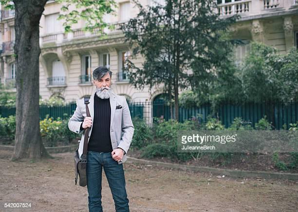 Sophisticated senior man, Champ de Mars