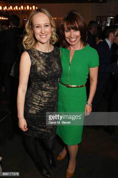 Sophy Ridge and Kay Burley attend the launch of new book 'The Women Who Shaped Politics' By Sophy Ridge at the Blue Boar Bar on March 21 2017 in...