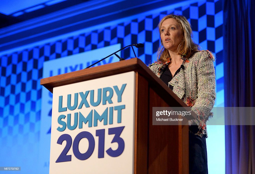 Sophy Roberts, Editor at Large, Departures, speaks onstage during The American Express Publishing Luxury Summit 2013 at St. Regis Monarch Beach Resort on April 23, 2013 in Dana Point, California.