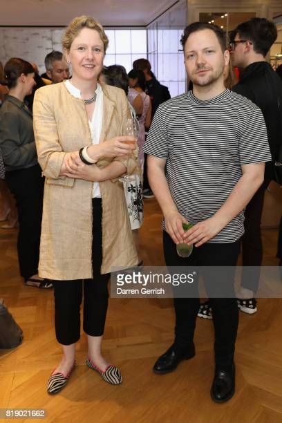 Sophy Thompson and Alexander Fury attend the Dior cocktail party to celebrate the launch of Dior Catwalk by Alexander Fury on July 19 2017 in London...