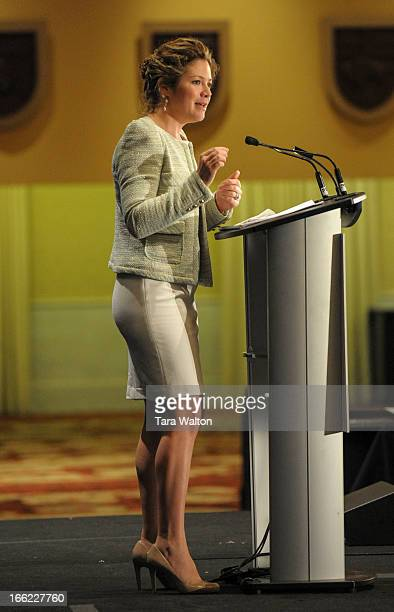 Sopie Grégoire Trudeau speaks Wednesday April 10 2013 at Toronto's Fairmont Royal Hotel during a breakfast meeting where she spoke of her experience...