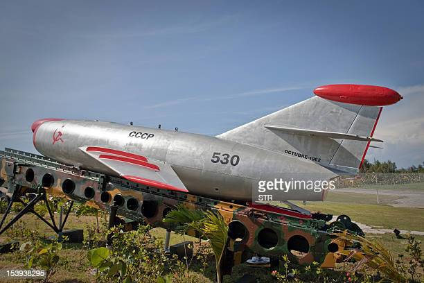 A Sopka missile deployed during the missile crisis of 1962 is displayed at Morro Cabana complex on October 11 2012 in Havana Cuba celebrates this...