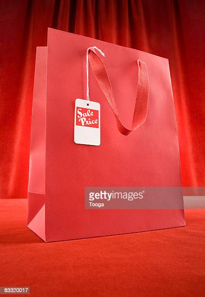 Sopping bag with sale tag