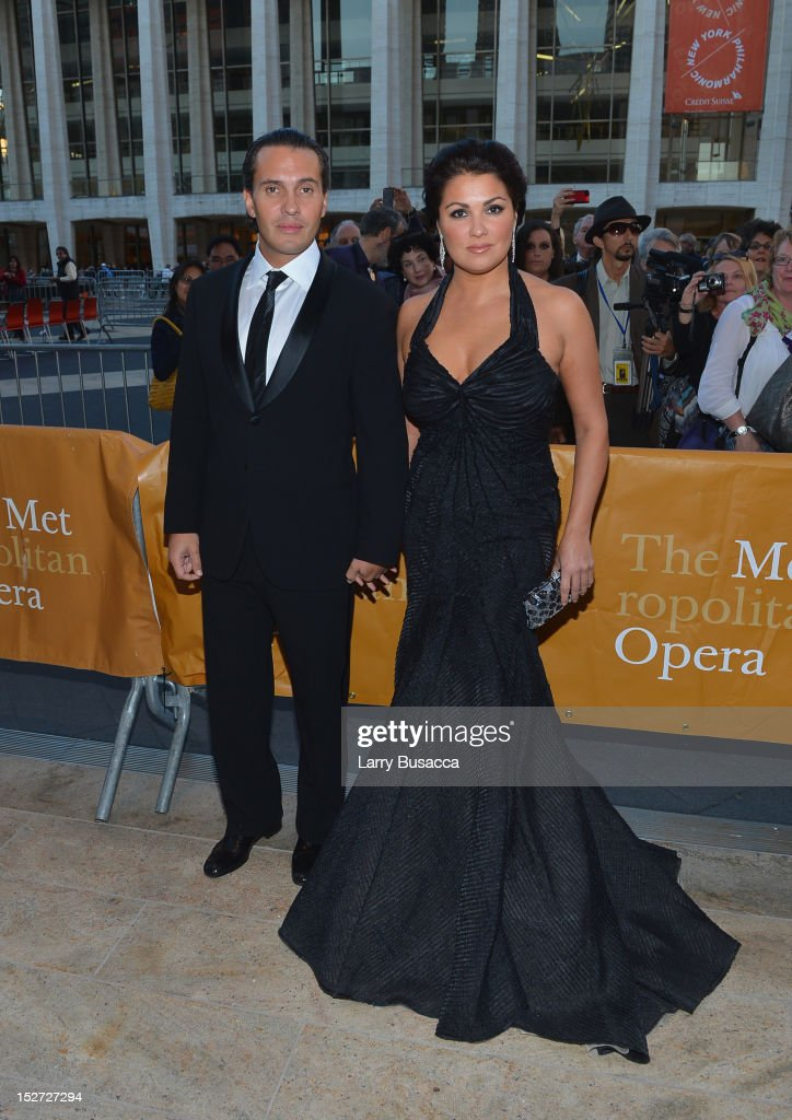 Soprano <a gi-track='captionPersonalityLinkClicked' href=/galleries/search?phrase=Anna+Netrebko&family=editorial&specificpeople=732328 ng-click='$event.stopPropagation()'>Anna Netrebko</a> and husband Erwin Schrott attend the 2012 Metropolitan Opera Season Opening Night performance of 'L'Elisir D'Amore' at The Metropolitan Opera House on September 24, 2012 in New York City.