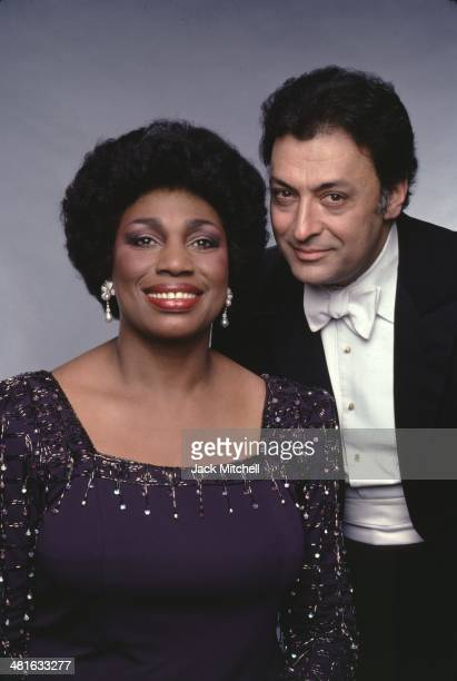 Soprano Leontyne Price and conductor Zubin Mehta photographed in 1982