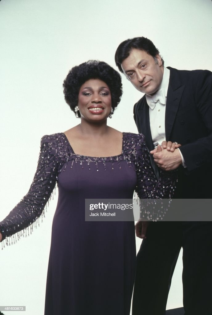 Soprano <a gi-track='captionPersonalityLinkClicked' href=/galleries/search?phrase=Leontyne+Price&family=editorial&specificpeople=242907 ng-click='$event.stopPropagation()'>Leontyne Price</a>, and conductor <a gi-track='captionPersonalityLinkClicked' href=/galleries/search?phrase=Zubin+Mehta&family=editorial&specificpeople=548623 ng-click='$event.stopPropagation()'>Zubin Mehta</a>, photographed in 1982.