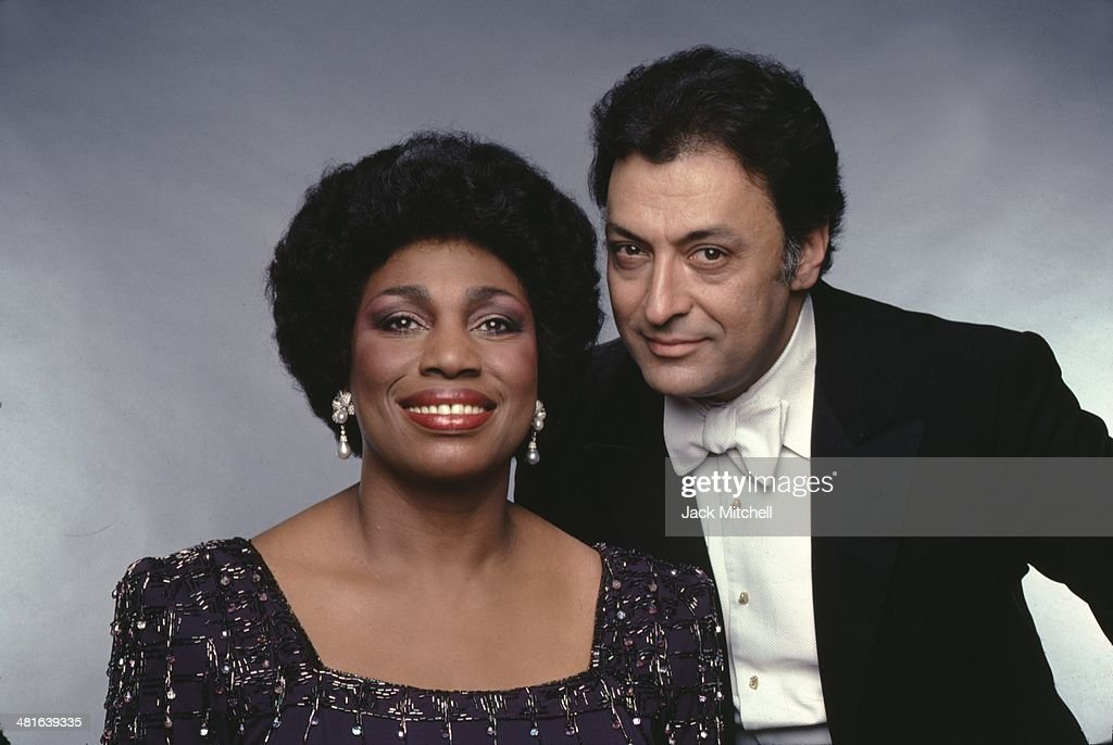 Soprano Leontyne Price, and conductor Zubin Mehta, photographed in 1982.