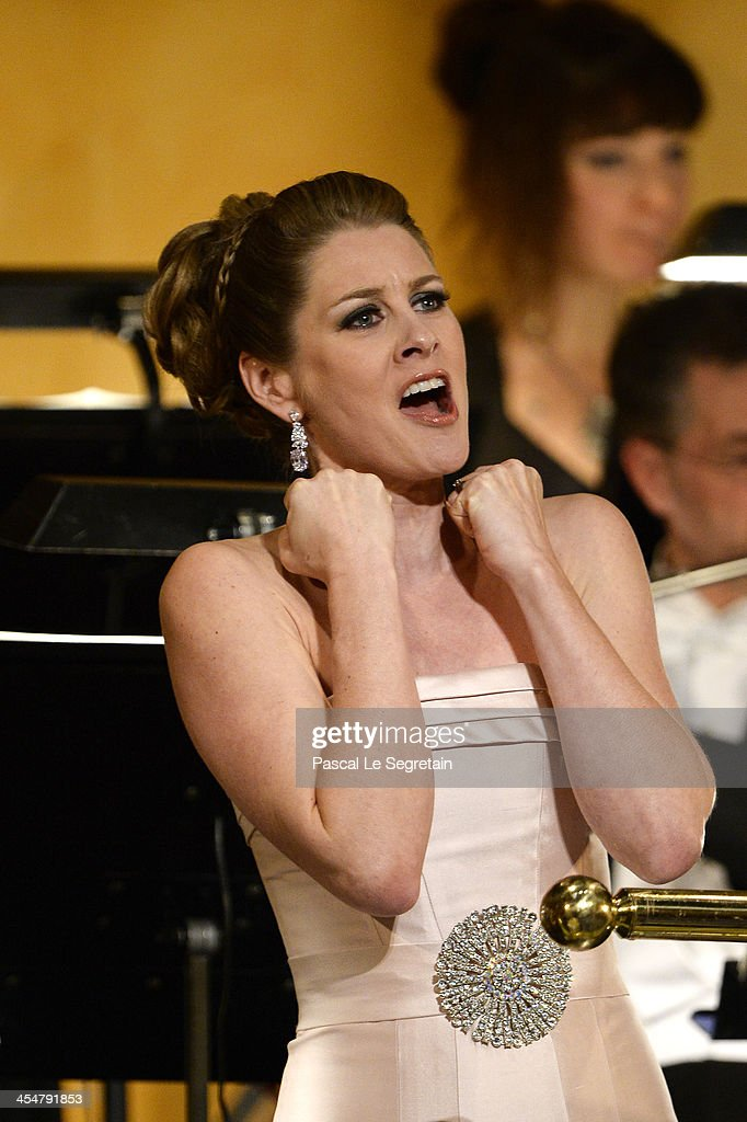 Soprano Malin Bystrom performs on stage during the Nobel Prize Awards Ceremony at Concert Hall on December 10, 2013 in Stockholm, Sweden.