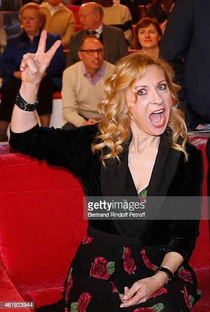 Soprano Natalie Dessay presents albums 'Rio Paris' 'De l'Opera a la chanson' and 'Entre elle et lui' during the 'Vivement Dimanche' French TV Show at...