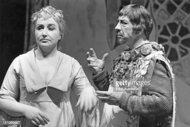 Soprano Rae Woodland as Constanza and baritone Jess Walters as Isaccio in Handel's opera 'Riccardo Primo' or 'Richard I' performed by the Handel...