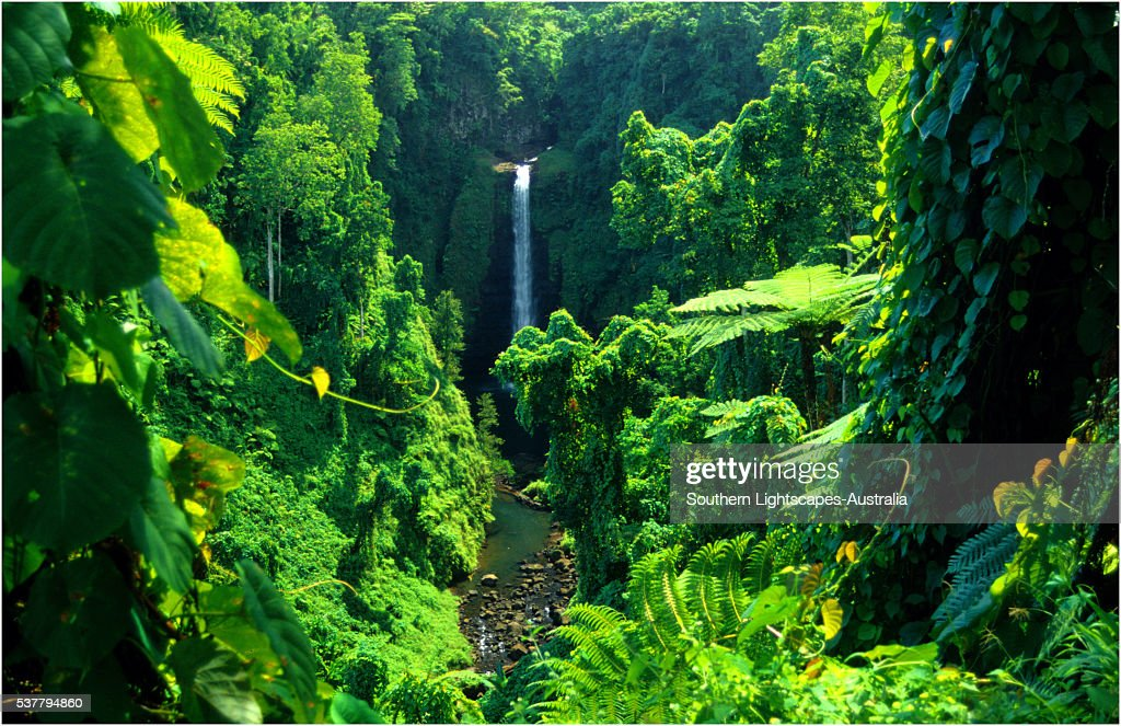 Sopuaga waterfall, The Island of Upolu, Western Samoa.