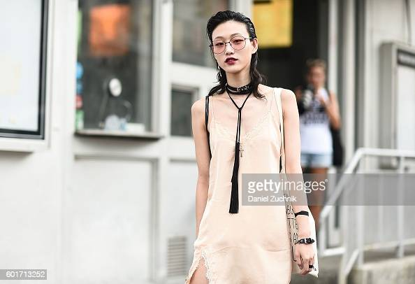 Sora Choi is seen outside the Jason Wu show during New York Fashion Week Spring 2017 on September 9 2016 in New York City
