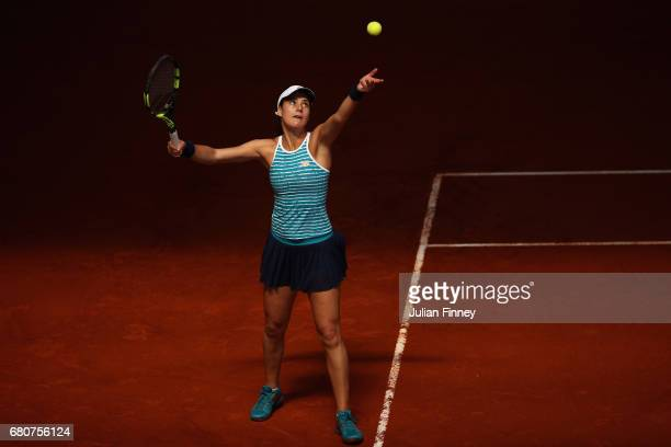 Sorana Cirstea of Romania in action against Catherine Bellis of USA during day four of the Mutua Madrid Open tennis at La Caja Magica on May 9 2017...