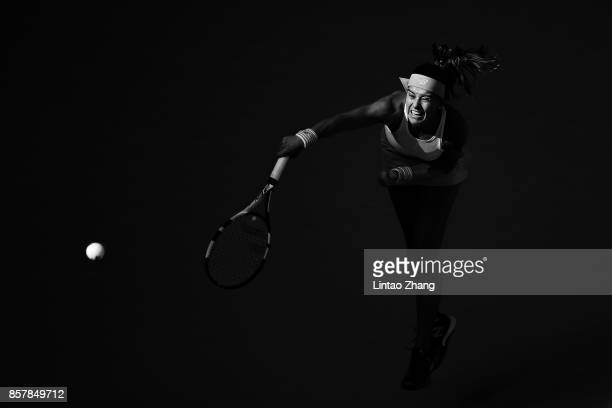 Sorana Cirstea of Romania returns a shot against Karolina Pliskova of the Czech Repubic during the Women's singles 3rd round on day six of 2017 China...