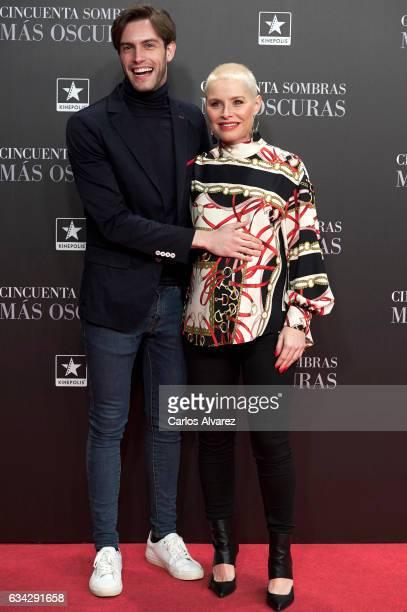 Soraya Arnelas and Miguel Herrera attend 'Fifty Shades Darker' premiere at the Kinepolis cinema on February 8 2017 in Madrid Spain
