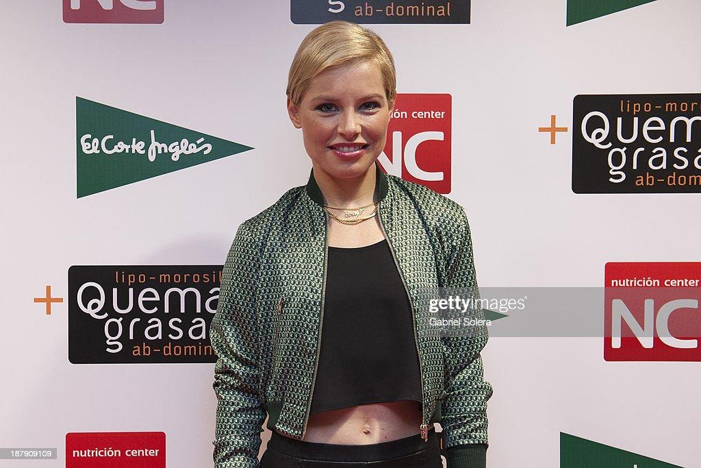 Soraya Arnelas presents Lipomorosil at El Corte Ingles Store on November 13 2013 in Madrid Spain