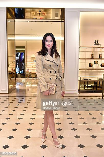 Soraya Bahgat at the Burberry Art of the Trench Middle East event at Mall of the Emirates on April 12 2016 in Dubai United Arab Emirates