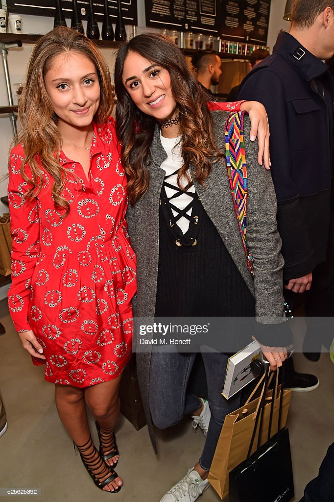 Soraya Bakhtiar (R) and Yasmine Larizadeh (L) attend The Good Life Eatery Cookbook Launch Party��in Knightsbridge on April 28, 2016 in London, England.