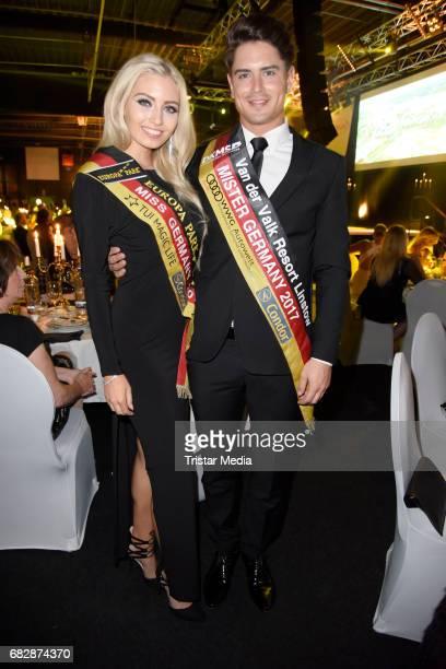 Soraya Kohlmann and Dominik Bruntner attend the 'Goldene Sonne 2017' Award by SonnenklarTV on May 13 2017 in Kalkar Germany