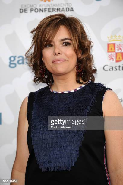 Soraya Saenz de Santamaria attends 7th 'Microfonos de Oro' Awards at the Toralin Stadium on May 9 2009 in Ponferrada Spain