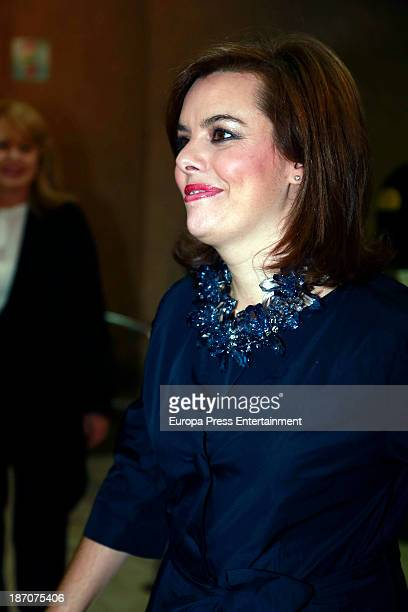 Soraya Saenz de Santamaria attends ABC Mariano de Cavia Awards 2013 Gala Dinner on November 5 2013 in Madrid Spain
