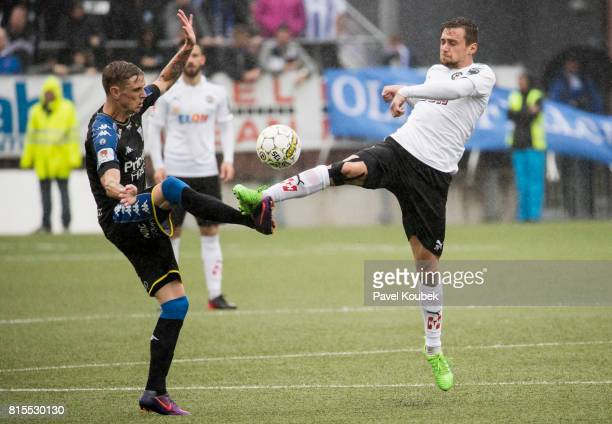 Soren Rieks of IFK Goteborg Filip Rogic of Orebro SK during the Allsvenskan match between Orebro SK and IFK Goteborg at Behrn Arena on July 16 2017...