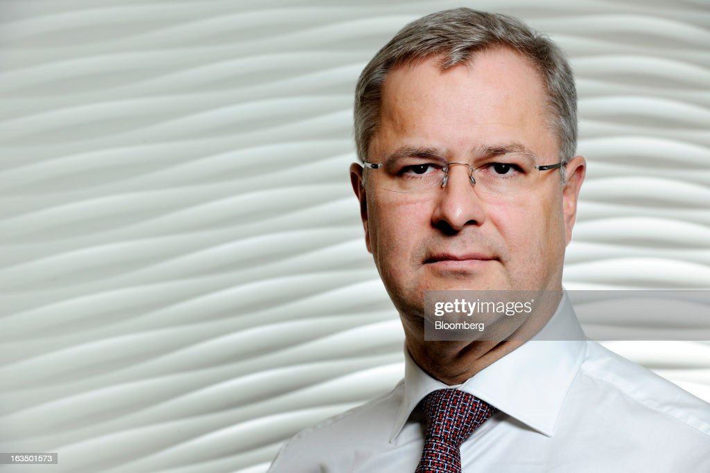 Soren Skou, chief executive officer of Maersk Line, poses for a portrait at the company's offices in Singapore, on Monday, March 11, 2013. Maersk Line, the world's biggest container shipping company, expects rate increases later this week, Skou said in a briefing. Photographer: Munshi Ahmed/Bloomberg via Getty Images