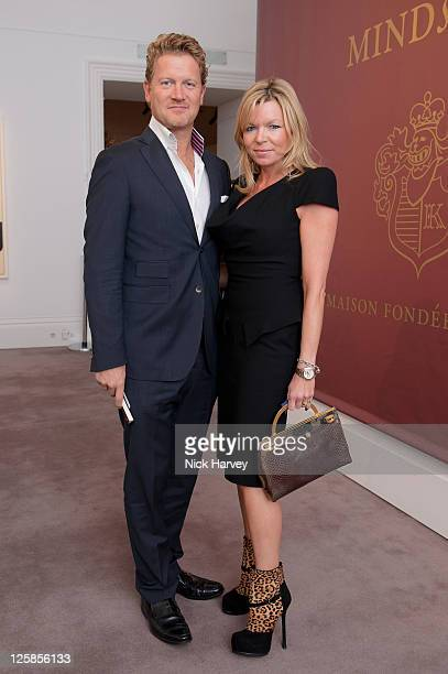 Soren Tholstrup and Fru Tholstrup attend Krug Mindshare annual fundraising auction at Sotheby's on November 1 2010 in London England