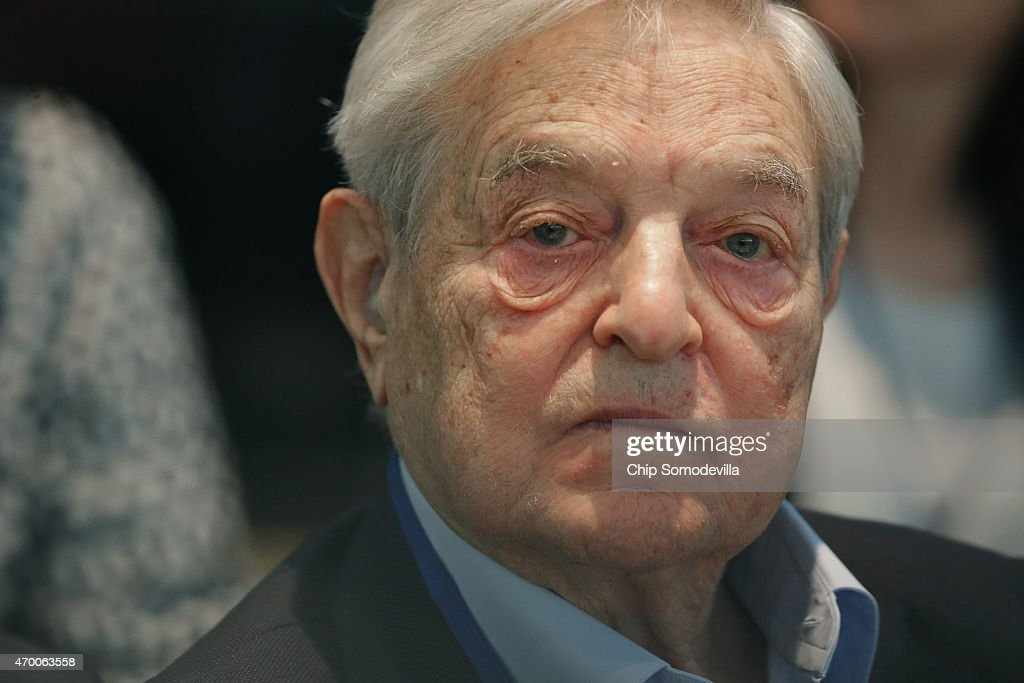 Soros Fund Management Chairman <a gi-track='captionPersonalityLinkClicked' href=/galleries/search?phrase=George+Soros&family=editorial&specificpeople=212841 ng-click='$event.stopPropagation()'>George Soros</a> attends a meeting with finance and development ministers, international partners and the presidents of Liberia, Sierra Leone and Guinea about the ongoing efforts to recover from the Ebola outbreak in West Africa during the World Bank- International Monetary Fund Spring Meetings April 17, 2015 in Washington, DC. The World Bank announced Friday that it would provide an additional US$650 million over the next year to help Guinea, Liberia and Sierra Leone to recover from the social, economic and health impact of the Ebola crisis.