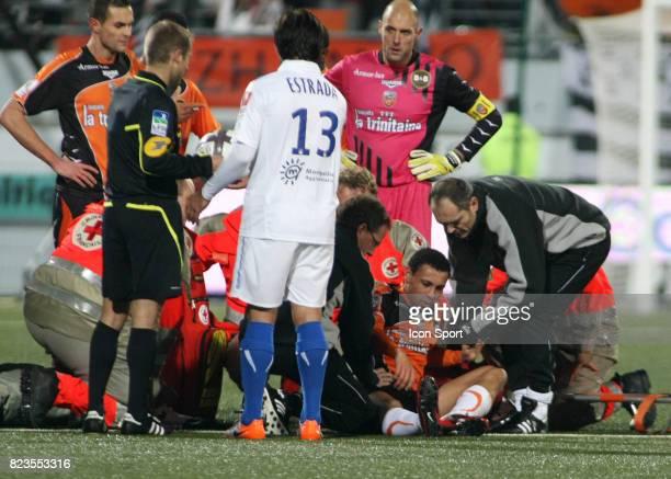 Sortie de Francis COQUELIN sur blessure Lorient / Montpellier 19eme journee de Ligue 1
