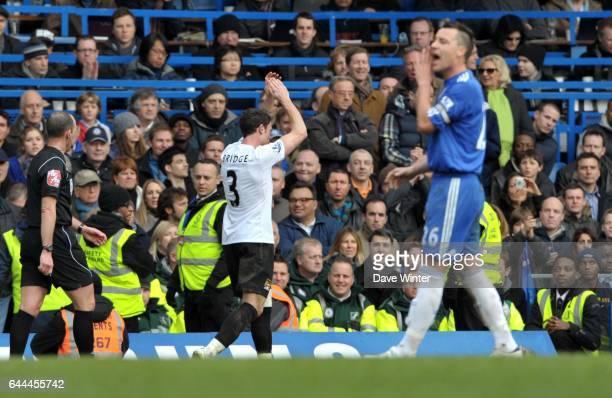 Sortie de Wayne BRIDGE / John TERRY Chelsea / Manchester City 28e journee Premier league Photo Dave Winter / Icon Sport