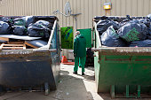 Sorting rubbish in the recycling centre at HMP YOI Littlehey Littlehey is a purpose build category C prison
