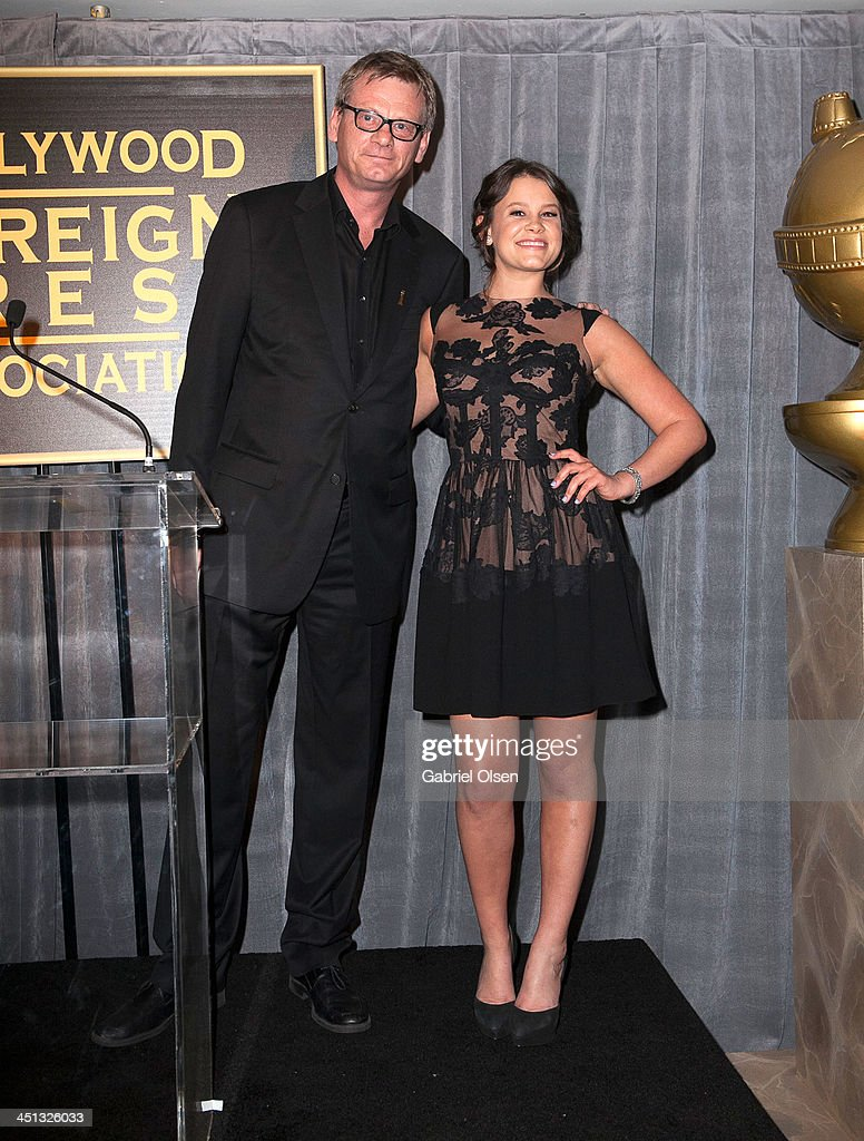 Sosie Bacon (R) and Theo Kingma attend The Hollywood Foreign Press Association (HFPA) And InStyle Celebrates The 2014 Golden Globe Awards Season at Fig & Olive Melrose Place on November 21, 2013 in West Hollywood, California.