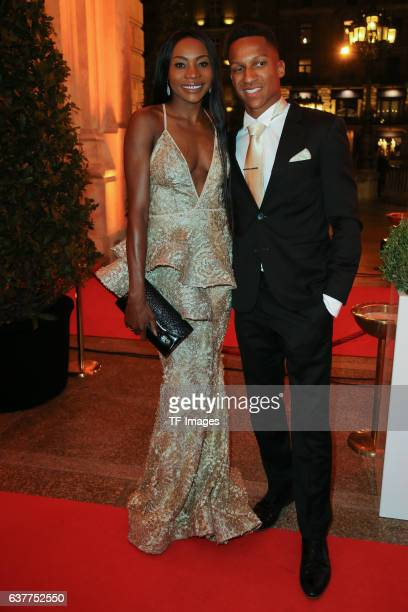 Sosthene Moguenara Raphael Holzdeppe attend the German Sports Media Ball at Alte Oper on November 05 2016 in Frankfurt am Main Germany