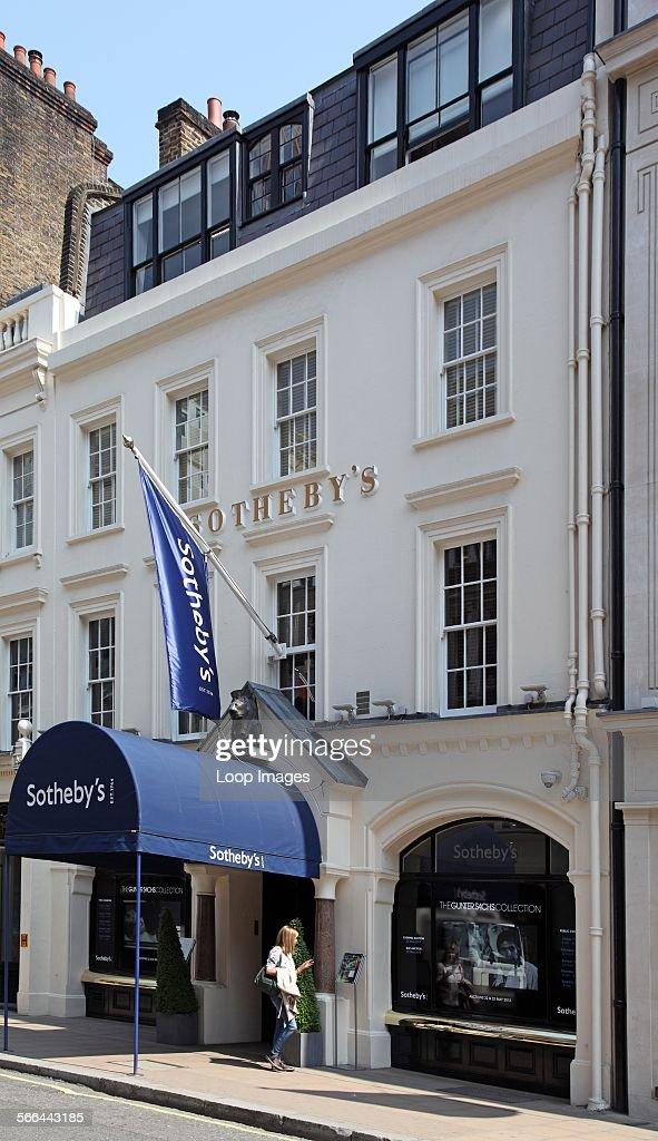 Sotheby's London premises in New Bond Street