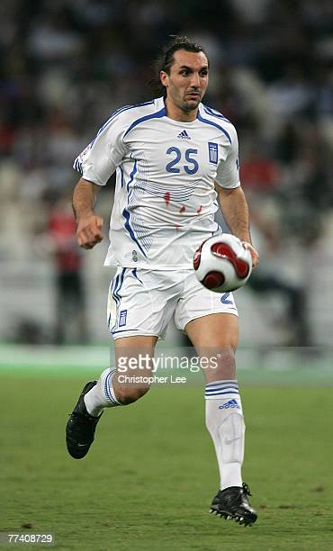Sotiris Kyrgiakos of Greece in action during the Euro 2008 Group C Qualifying match between Greece and Bosnia Herzegovina at the Olympic Stadium on...