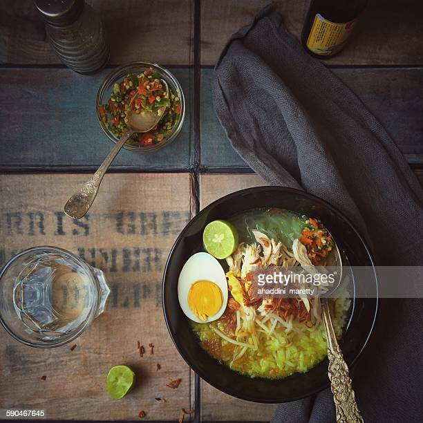 Soto Ayam, spicy chicken soup, Indonesia