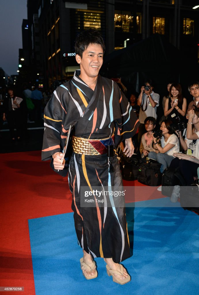 Sou Takei attends the Japan premiere of 'Transformers : Age Of Extinction' at the Toho Cinemas Nihonbashi on July 28, 2014 in Tokyo, Japan.