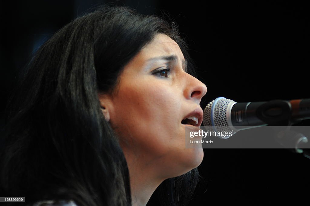 Souad Massi performs on stage at Womadelaide 2013 at Botanic Park on March 9, 2013 in Adelaide, Australia.