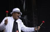 Soul and jazz artist Roy Ayers performs live Rise London United an antiracist festival to celebrate the London's diversity on July 8 2006 in London...