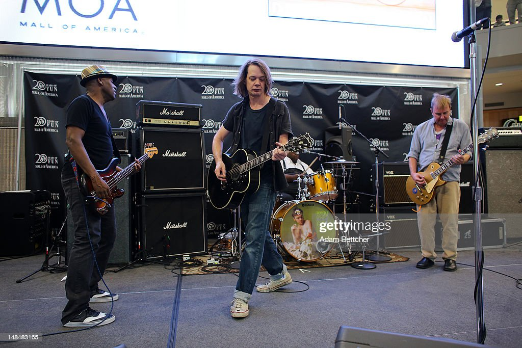 Soul Asylum bassist Tommy Stinson lead singer Dave Pirner drummer Michael Bland and rhythm guitarist Dan Murphy perform songs from the new album...