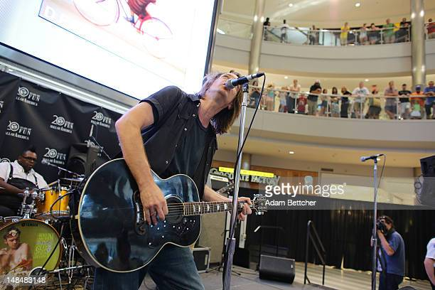 Soul Asylum lead singer Dave Pirner performs songs from the new album 'Delayed Reaction' at the Mall of America on Tuesday July 17 2012 in...