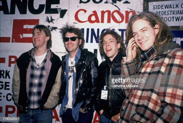 Soul Asylum pose for a portrait in 1990 in New York City New York