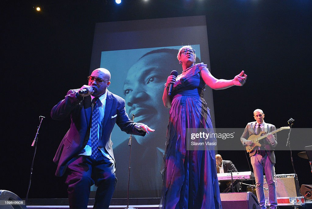 Soul group 'Kindred The Family Soul' perform at BAM's 27th Annual Tribute To Dr Martin Luther King Jr 'Come Share The Dream' at Brooklyn Academy of...