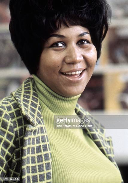 Soul singer Aretha Franklin poses for a portrait in the studios of Atlantic Records in 1968 in New York City New York