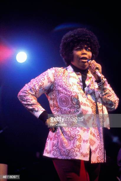 Soul singer Doris Troy on stage at Camden Roundhouse London 1972