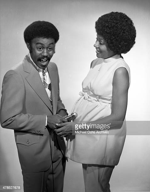 Soul singer Johnnie Taylor poses for a portrait with his wife Gerlean Rockett in circa 1971